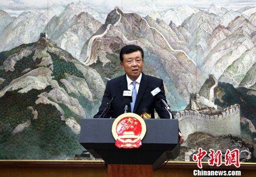 资料图:中国驻英国大使刘晓明。中新社发 周兆军 摄