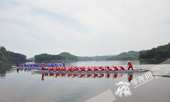 合川龙舟队正在备战全运会群众比赛,希望能代表重庆,走得更远。记者 苏桢淇 摄