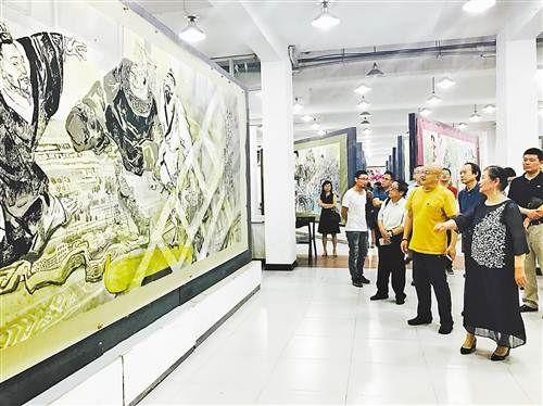 大型组画《中华上下五千年》评鉴会举行