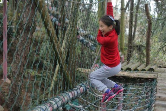 图为重庆市某小学学生在壹华里森林公园游玩。 主办方供图