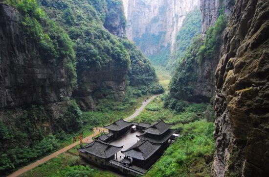 图为世界自然遗产重庆武隆天生三桥景区。景区提供