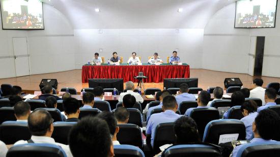 图为重庆召开整治和打击房地产领域违法犯罪行为视频会议。钟旖摄