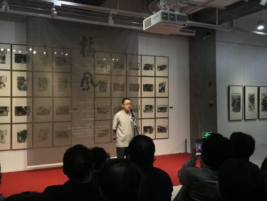 图为青年国画家傅吉鸿。钟旖摄