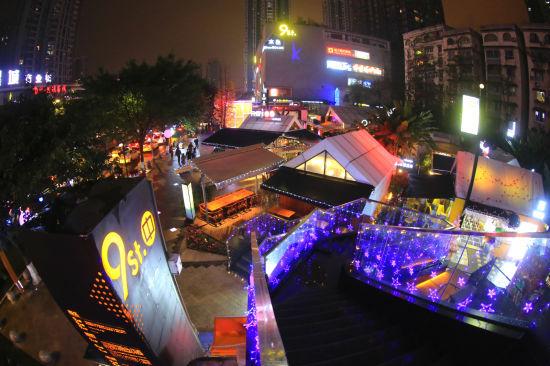 图为不夜九街。江北区供图