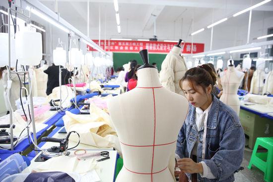 图为服装款式设计与立体裁剪比赛 主办方供图