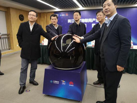 图为重庆两江新区物联网产业园协同创新中心成立。摄影 刘贤