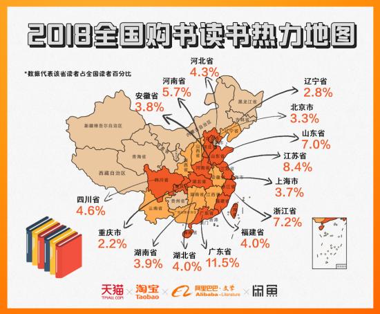 阿里发布 2018 中国人读书报告 重庆读书人口总数居全国第五