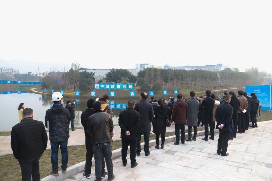 重庆南岸区两会代表委员观摩苦竹溪(长生河)及支流环境综治工程示范段工作成果。张章 摄