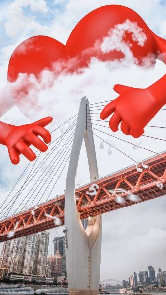 在东水门大桥£¬红心抚弄琴弦£¬弹奏生日的颂歌¡£