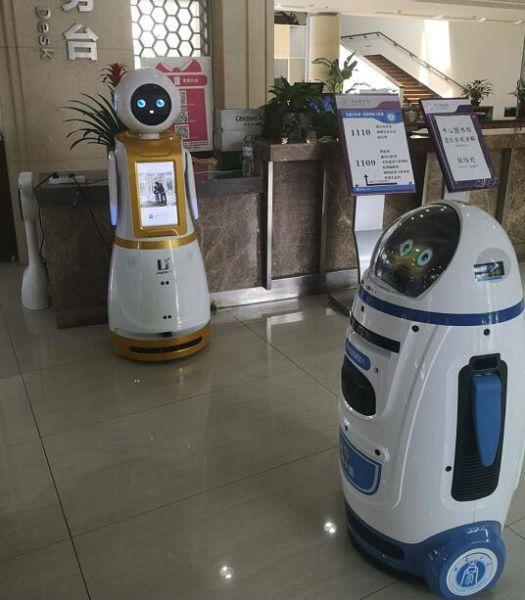 西南大学图书馆引进机器人三胞胎。校方供图