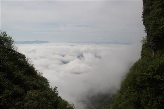 薄雾升起。通讯员 李绍标 摄
