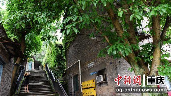 5月22日拍摄的郭家沱街景。