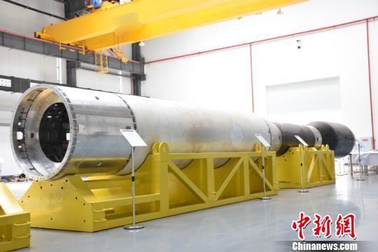 图为装配测试大厅的火箭部段。零壹空间供图
