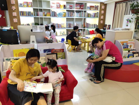 圖為 北碚讀書人家親子閱讀現場。(李定明 攝)