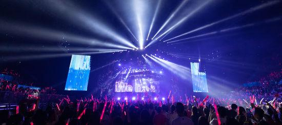 """圖為潘瑋柏""""創始者coming home""""全國巡回演唱會登陸重慶華熙文化體育中心。主辦方供圖"""