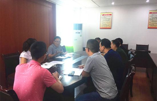 纪检组对交通局干部任前廉政提醒谈话。 邓裕平 摄