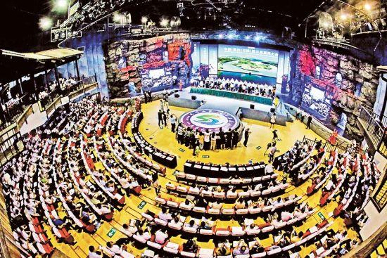 7月23日,石柱黄水,中国重庆(石柱)第三届康养大会开幕。特约摄影 钟志兵