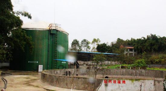 养猪场建起的粪污发酵净化设施。 赵武强 摄