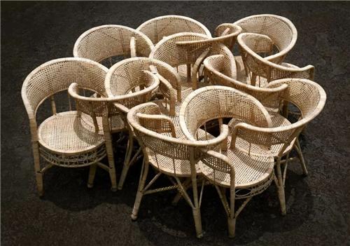 《世界》 藤椅 200x200x70cm 2014年