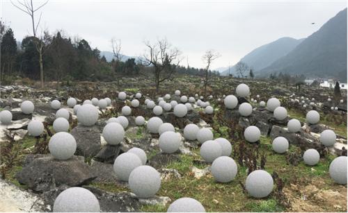 《星图》 装置 白色石材 尺寸可变 2019年