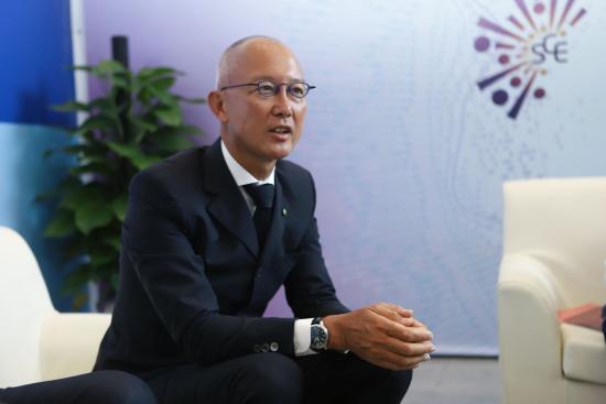 德勤全球副主席、德勤中国主席蔡永忠接受采访。主办方供图
