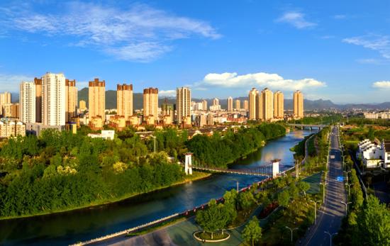 图为秀山城市风貌