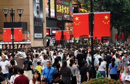 國慶假期首日 重慶解放碑人氣火爆