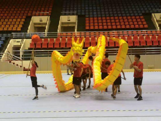 图为重庆铜梁舞龙队正在训练。罗永皓摄