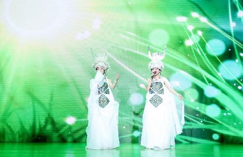 酉阳桃花源第五届桃女郎全国总决赛亚军获得者阿音坊舞台效果