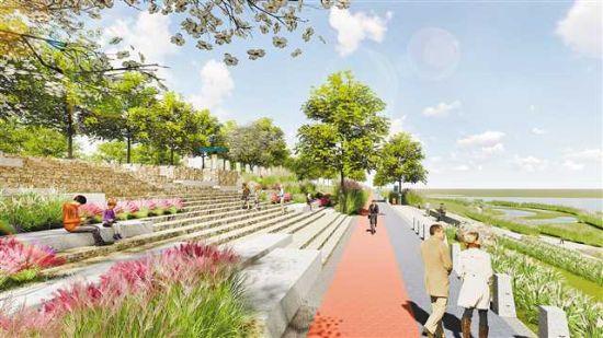 花溪河湿地公园效果图。市住房城乡建委供图
