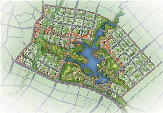 垫江县东部新区规划图。