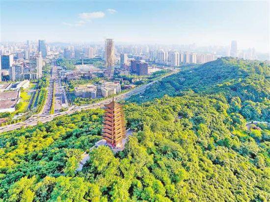 两江新区照母山森林公园植被茂盛,为该片区提供了良好的人居环境。