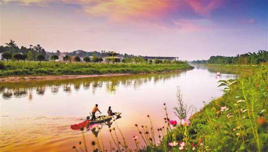 龙溪河梁平段。受访者供图