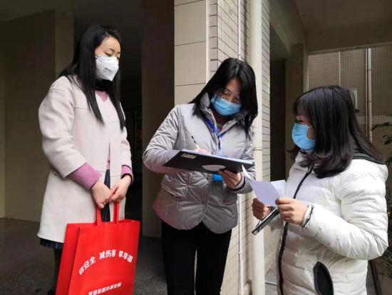 图为防疫走访调查现场。社区供图