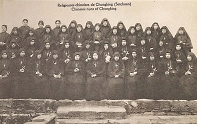 图为清末上清寺的修女。 何浩 摄影