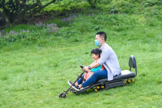 图为游客正在金佛山景区玩耍。景区供图