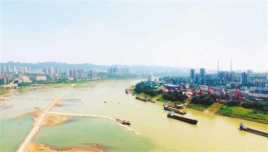 即将完成整治的九龙坡至朝天门长江航道。 (长江航道整治中心供图)