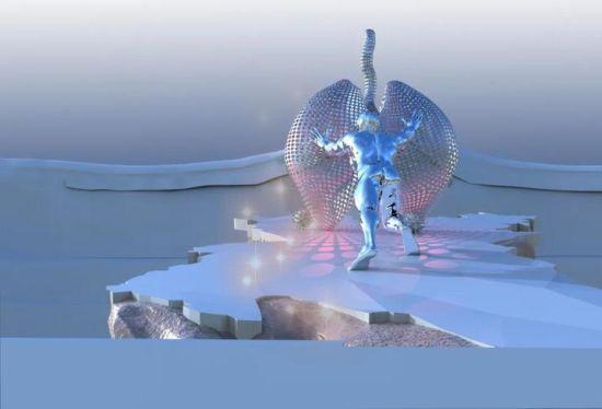 《不息的史诗》原创雕塑效果图