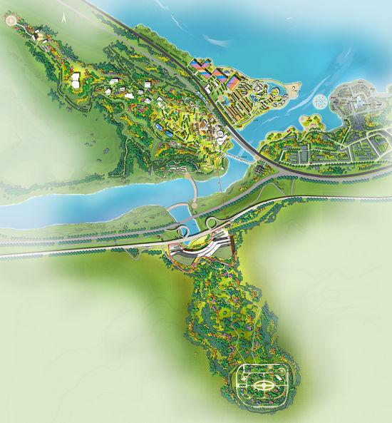 图为景区规划示意图。涪陵红酒小镇景区供图
