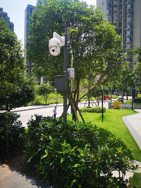 社区体育文化公园内的实时监控。市规划自然资源局供图
