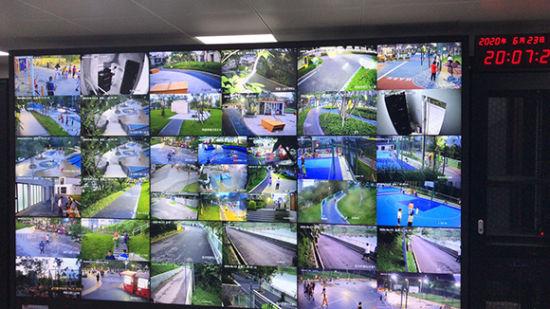 管理人员可通过中控中心的一张大屏幕实现对已开放社区体育文化公园的远程监控。市规划自然资源局供图