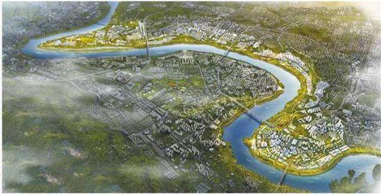 重庆长江文化艺术湾区效果图。大渡口区委宣传部供图