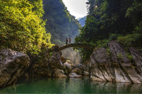 石柱七曜山国家地质公园景色。石柱县文旅委供图