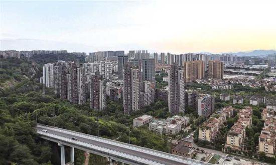 渝北区城市风貌一角 摄/傅强