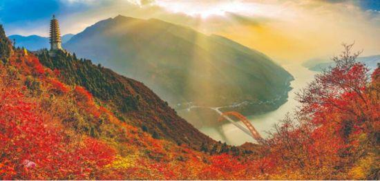 巫山文峰观红叶。
