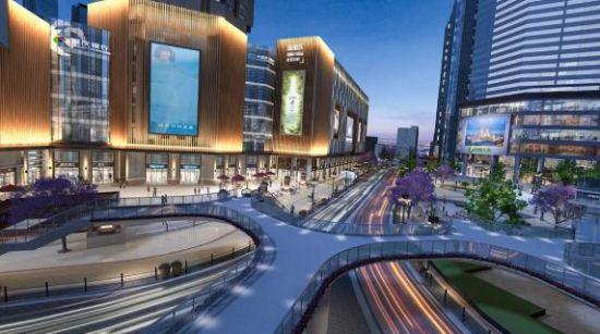 小什字天桥夜景效果图。重庆市设计院供图