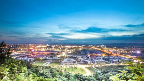 圖為重慶國際物流樞紐園區全景圖。重慶國際物流樞紐園區供圖