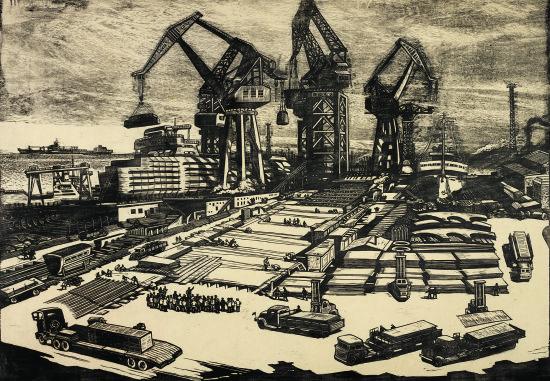 图为著名版画艺术家王琦于1987年创作的版画《一日千里》。主办方供图