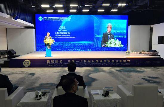 图为中国—上海合作组织数字经济产业论坛智慧旅游分论坛现场。肖江川 摄