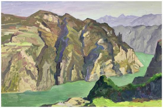 《神女无恙》(油画)80×120cm